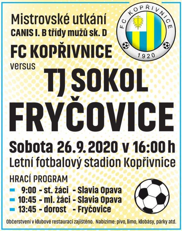Domácí zápas FC Kopřivnice - Fryčovice