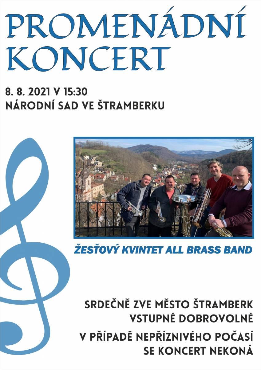Promenádní koncert: Žesťový kvintet All Brass Band