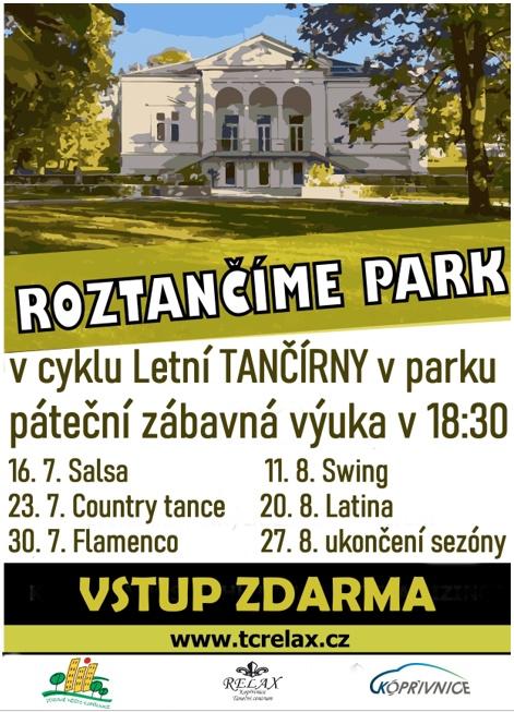 Letní TANČÍRNA v parku