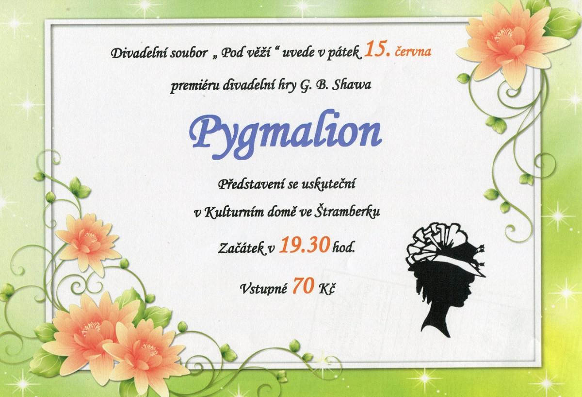 Divadelní představení: Pygmalion