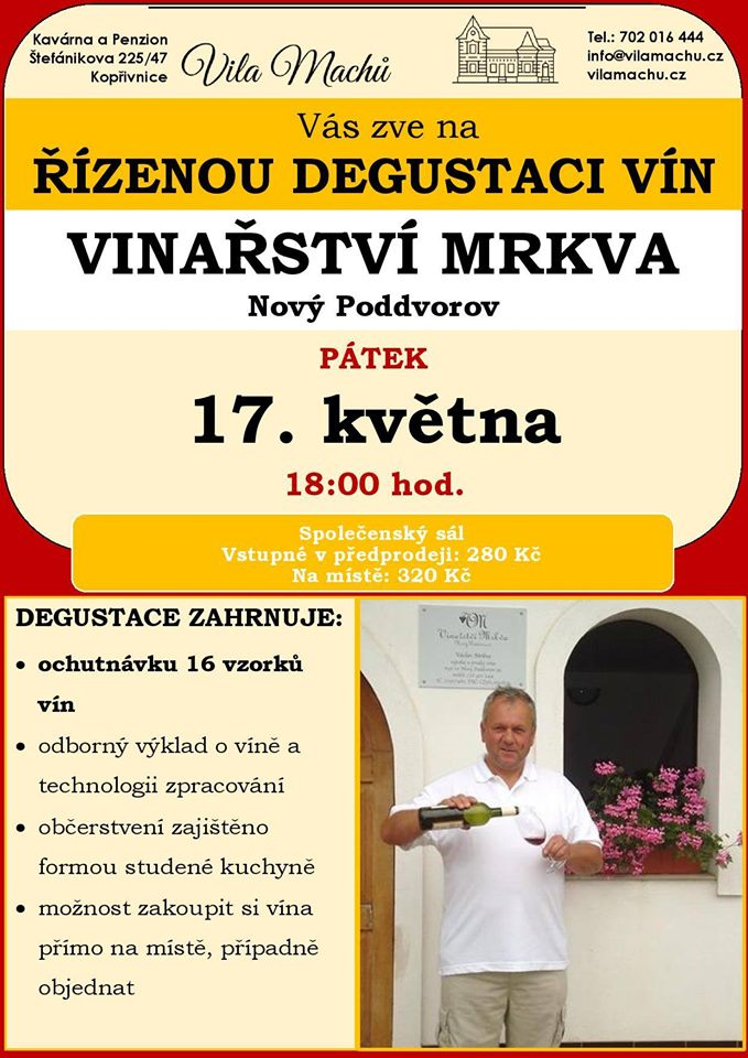 Řízená degustace vinařství Mrkva