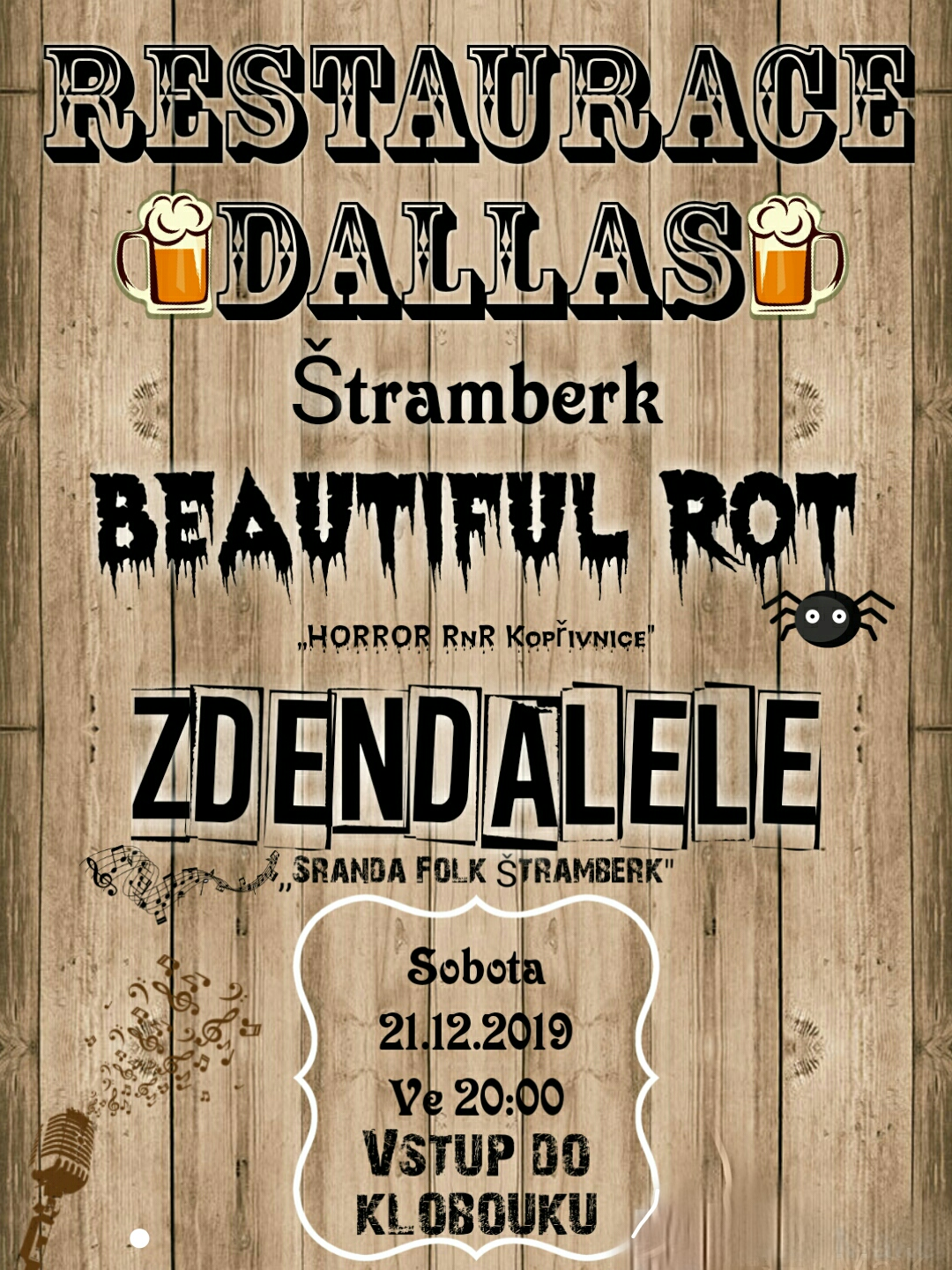 KONCERT: ZdendaLeLe   Beautiful Rot v restauraci Dallas