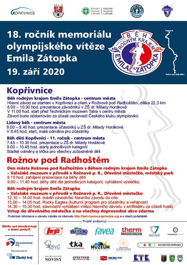 Běh rodným krajem Emila Zátopka (18. ročník)