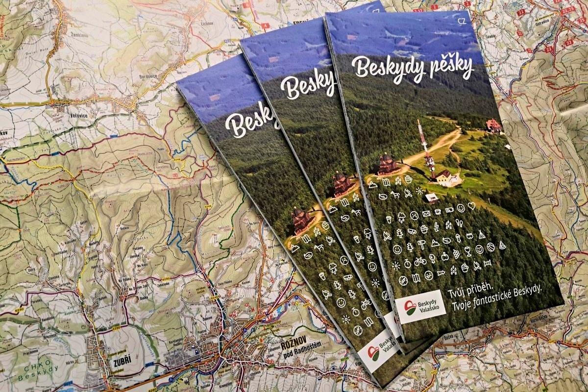 Nová mapa Beskyd s výlety