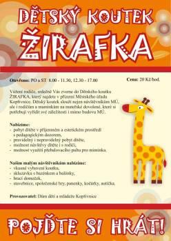 Dětský koutek - Žirafka