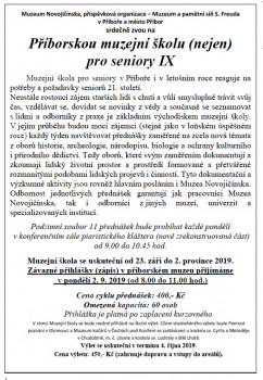Příborská muzejní škola pro seniory IX.