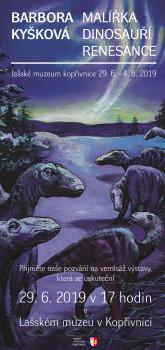 Malířka dinosauří renesance - vernisáž