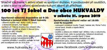 100 let TJ Sokol a Dne obce HUKVALDY