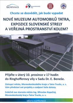 Nové muzeum automobilů Tatra, expozice Slovenské strely a veřejná prostranství kolem?
