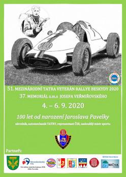 51. ročník Mezinárodní Tatra Veterán Rallye Beskydy 2019 a 37. ročnik ročník Memoriálu z. m. s. J. Veřmiřovského