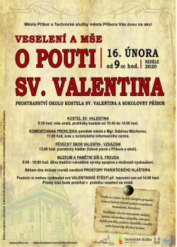 Veselení a mše o pouti sv. Valentina