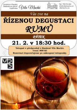 Řízená degustace rumů