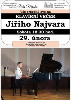 Klavírní večer Jiřího Najvara