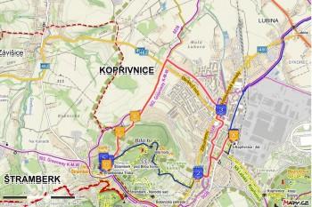 6. trasa pro kočárky - Z Kopřivnice přes Paseky (7 km)