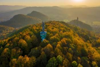 Vom Zentrum der Stadt Štramberk auf den Weißen Berg