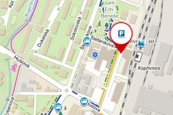 P05) Parkoviště – Lašské muzeum, vlakové nádraží