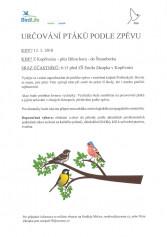Určování ptáků podle zpěvu
