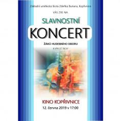 KONCERT: Slavnostní koncert hudebního oboru ZUŠ Zdeňka Buriana k výročí školy
